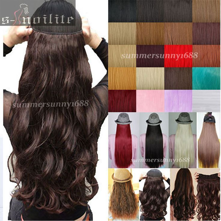 US UK LOCAL WAREHOUSE 18-28 inches Clip in ins Hair Extensions Half Full Head One Piece Curly/Wavy black brown blonde hair