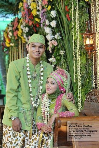 Foto Pernikahan Baju Pengantin Wedding Muslim Modern Hijau