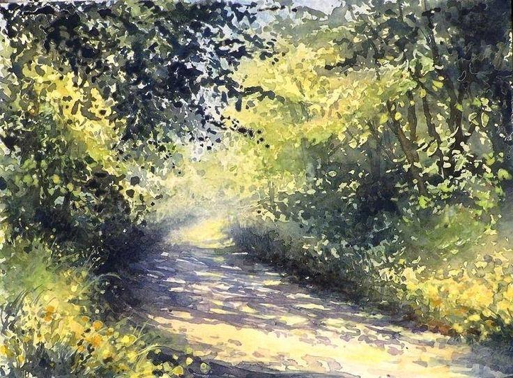 Edyta Nadolska Watercolor Art - 'By the forest', 2016