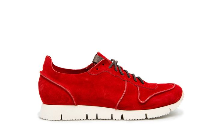 BUTTERO: RED SUEDE SNEAKERS (B5910UGHGBE151/11)