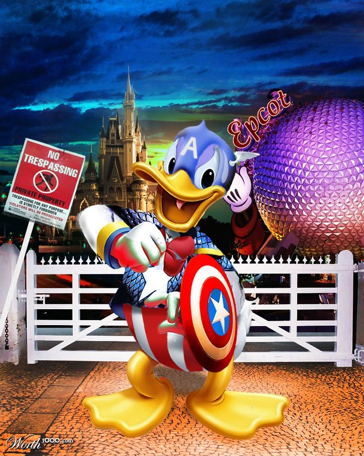 Donald Duck as Captain America (by Edshox84)