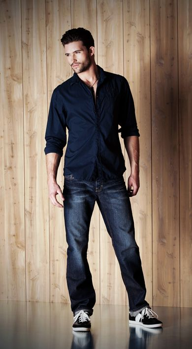Confident Cool Mens Casual Look                                                                                                                                                                                 More