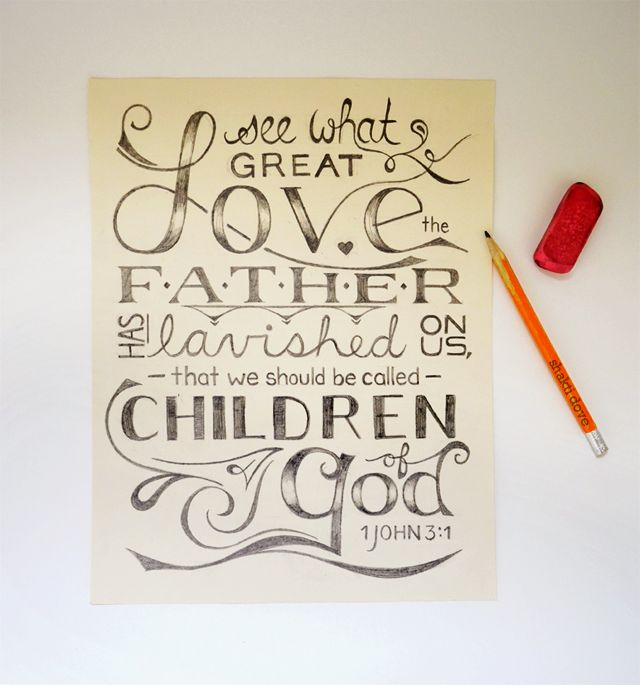 Hand lettering | Great love