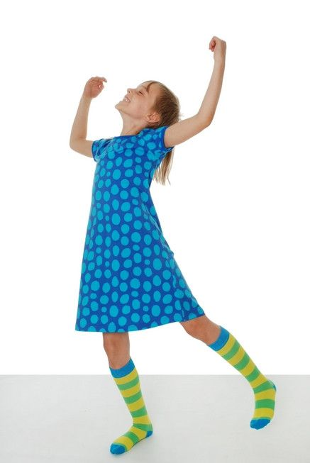 Kids will love how soft this short sleeve dress is from More Than A Fling, a100% GOTS Certified Organic kids brand from Sweden. These dresses run big, so unle