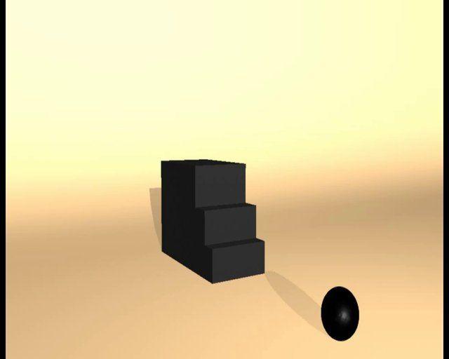 Una corta #animación en 3D de una pelota pesada como por Ejemplo una pelota de #bowling.