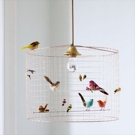 concept - use wire for children to create self-made chandeliers from hanging pendant lights