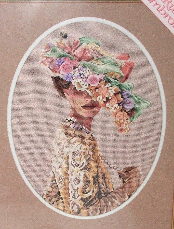 Lady Victoria Dimension Needlepoint Kit 2425 S Halstenberg Ribbon Embroidery Hat Dimensions Ribbon Embroidery Ribbon Embroidery Kit Embroidery Kits