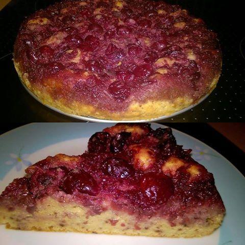 Egyszerű szénhidrátszegény paleo meggyes süti (gluténmentes, laktózmentes, cukormentes) ~ Éhezésmentes Karcsúság Szafival