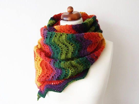 #handknit #laceshawl #rainbowscarf #knitscarf #winterscarf #lacescarf #oversize #plussize #largescarf #winterknits #winterfashion