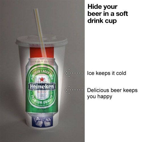 How to cleverly hide your beer
