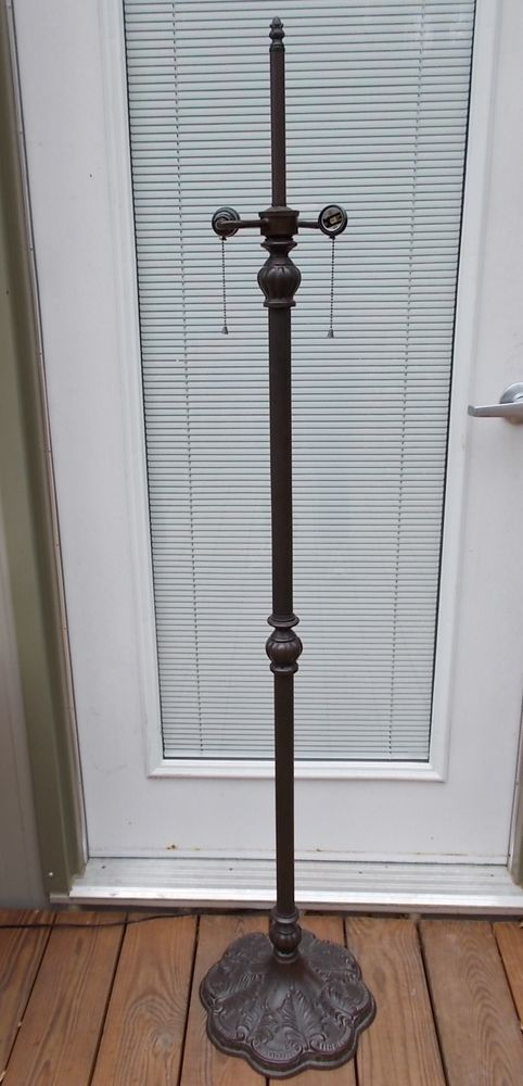 """60"""" TIFFANY STYLE VICTORIAN FLOOR LAMP BASE FOR STAINED LEADED SLAG GLASS SHADE #UNKNOWN #TiffanyStyleVictorian"""