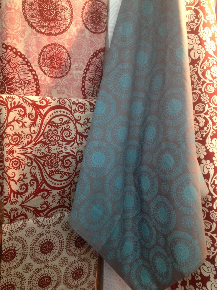 These beautiful hand-printed fabrics were on display by Stowe & So as part of the Craft Collective exhibition.