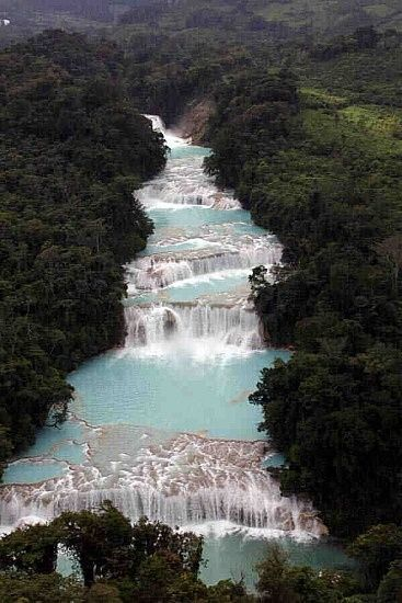 Cascadas de Agua Azul, Palenque, Mexico wow. | nature | Pinterest | Places, Beautiful places and Waterfall