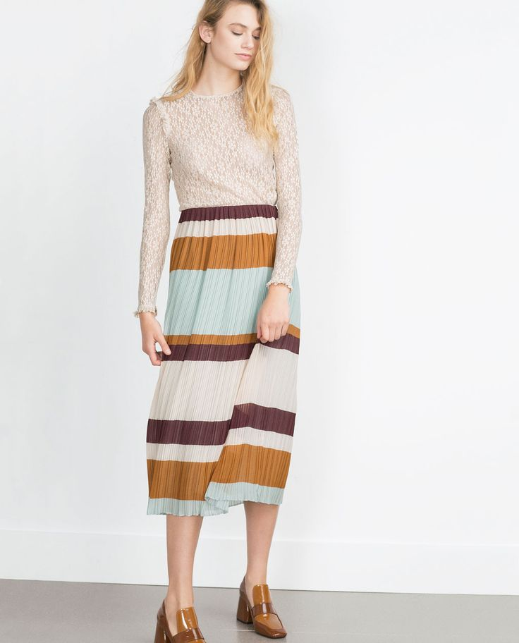 accordion pleat skirt maxi skirts zara united
