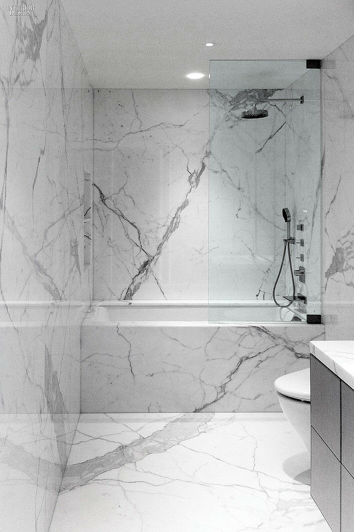it seems like the carrara marble slabs always look better than the carrara tiles - Bathroom Ideas Marble