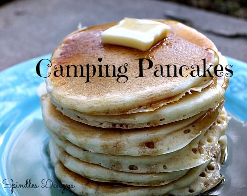 Camping pancakes from scratch are just as easy as from a mix only better. Just make your own mix.