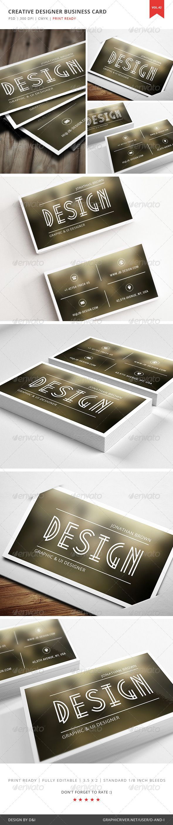 105 best print templates images on pinterest font logo print creative designer business card vol 42 graphicriver item features layered photoshop psd reheart Image collections