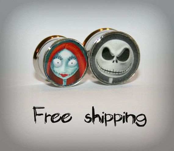 Custom plugs 2 sides plugs Stainless steel by triballook on Etsy, $20.00
