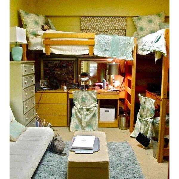 Organized Dorm Room Ideas With Big Windows