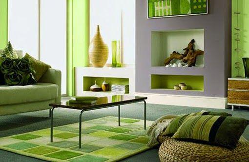 gris y verde manzana en decoracion - Buscar con Google