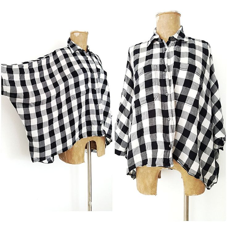 Ralph Lauren Denim & Supply Top Size Small Batwing Sleeve Black & White Check  #RalphLaurenDenimSupply #Blouse #Casual