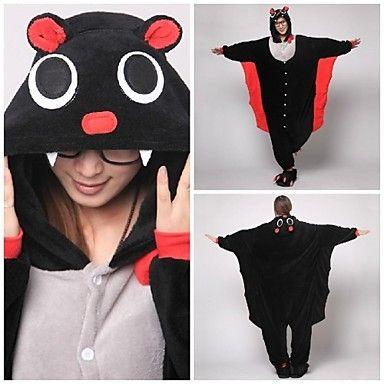 Cute Black Bat Adult Coral Fleece Kigurumi Pajamas Animal Sleepwear