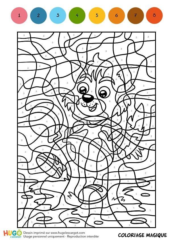 Coloriage Chat Joue.Coloriage Et Illustration D Un Coloriage Magique Cm1 Un Petit Chat