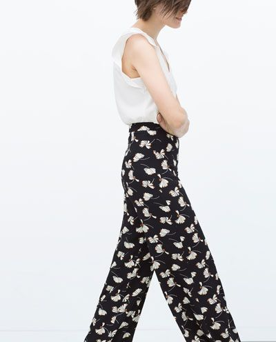 PRINTED BELL BOTTOM TROUSERS
