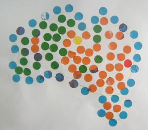 Aboriginal Dot Art for younger children use colored dots, or dot markers.  Could draw simple aboriginal symbol  before kids dot.