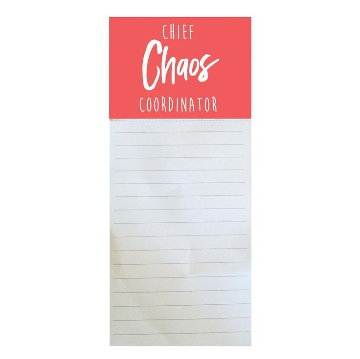 Magnetic Notepad Chief Chaos Coordinator SHIPS 2/1