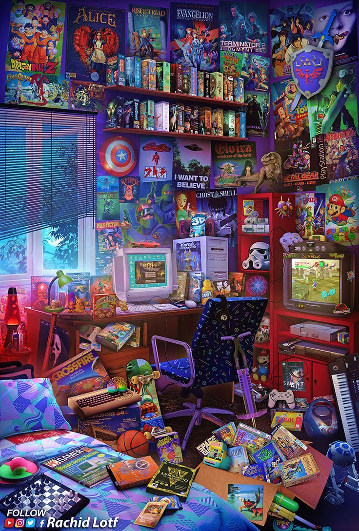 The Ultimate 90s Gaming Room Courselle 90s Consolegames