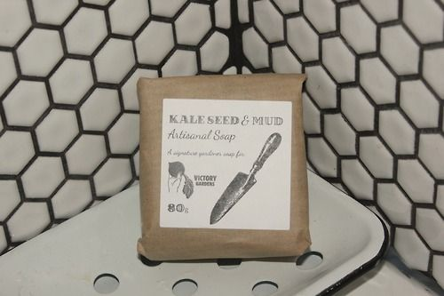 #featureoftheday: Victory Gardens is super excited about our first product collaboration: Kale Seed and Mud Soap with  Jordan River Soapworks! This soap is made of natural ingredients and is great for dirty garden hands (or any messy paws for that matter), lathers up muddy and rinses clean. The kale seeds are a gentle exfoliant for working hands! $12 http://shop.victorygardensvancouver.ca/collections/feature-of-the-month-november/products/kale-seed-and-mud-gardener-soap