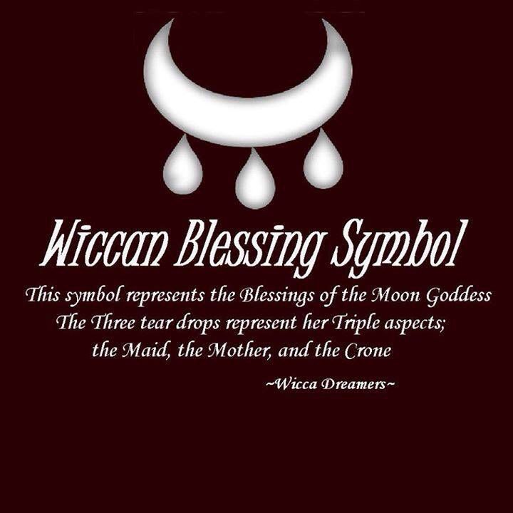 Wiccan blessing symbol.- Pinned by The Mystic's Emporium on Etsy