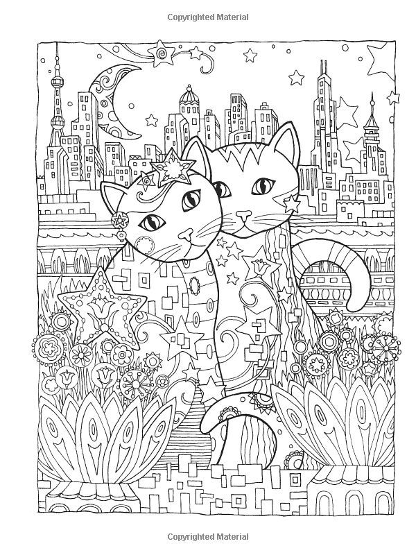hard cat design coloring pages - photo#13