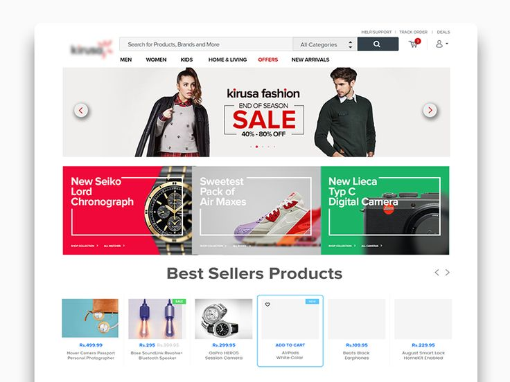 41 best tips images on pinterest photoshop tutorial a logo and ecommerce landing page ui concept fandeluxe Image collections