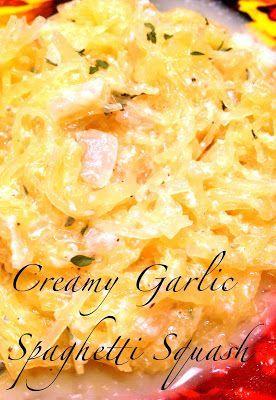A Healthy Makeover: Creamy Garlic Spaghetti Squash- 3 WW points plus