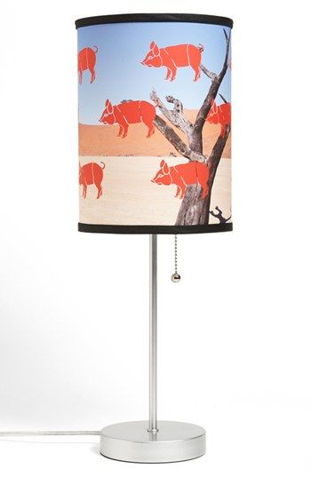 Lamp-In-A-Box Pig Print Table Lamp