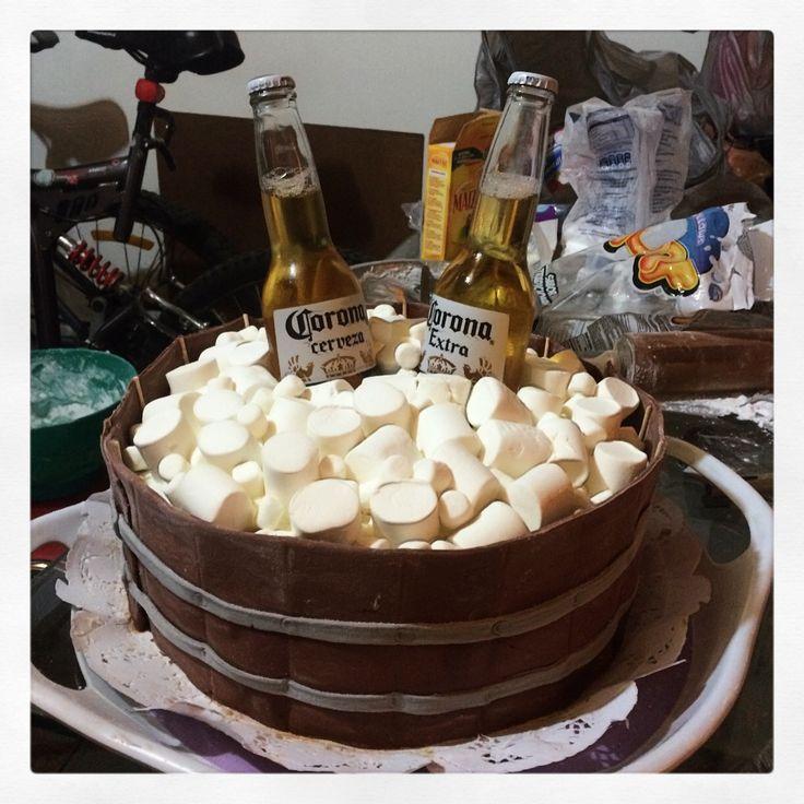 Torta cerveza, fonda y mashmelow