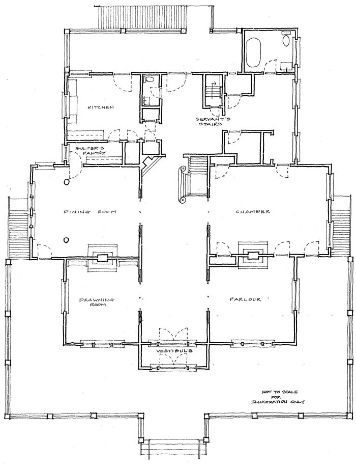 exceptional historic style house plans #1: Historic House Plans ...