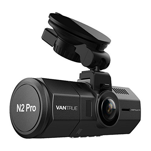 "Vantrue N2 Pro Uber Dual Dash Cam Dual 1920x1080P Front and Rear Dash Cam (2.5K Single Front Record) 1.5"" 310 Car Dashboard Camera w/Infrared Night Vision Sony Sensor Parking Mode Motion Detection"