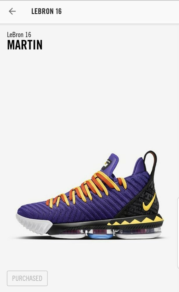 Nike LeBron 16 Martin Sz. 11.5 #shoes