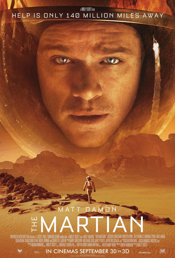 Adapted by Drew Goddard from Andy Weir's bestseller, 'The Martian' features Damon as NASA astronaut Mark Watney, seriously injured and thought dead by his crewmates on Mars during a huge storm that forced them to evacuate. But Watney is very much alive and intends to stay that way, putting his botanical skills, engineering nous and astronaut survival training to good use, figuring out ways to live with limited supplies. He's also got a wry sense of humor to keep him sane. | In theaters now.