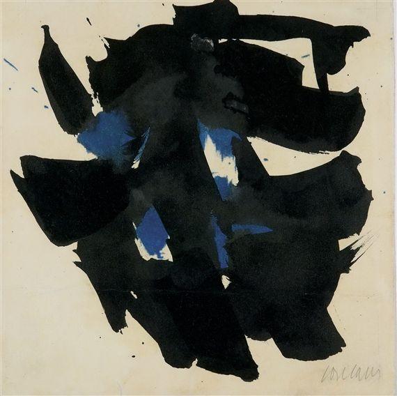 Artwork by Pierre Soulages, Gouache on vellum - 1959
