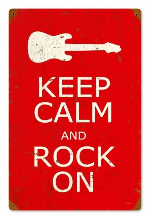 Vintage and Retro Wall Decor - JackandFriends.com - Vintage Keep Calm and Rock On Metal Sign, $39.97 (http://www.jackandfriends.com/vintage-keep-calm-and-rock-on-metal-sign/)
