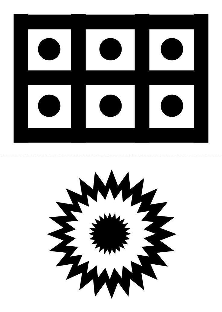 Черно белые картинки для развития зрения новорожденных