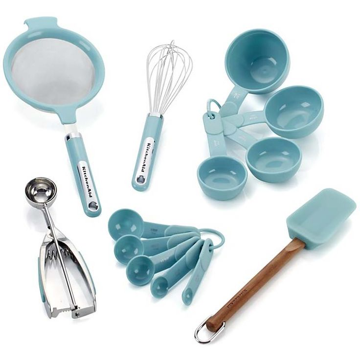 Reach for any of these sky blue KitchenAid 13-Piece Prep Set to make short work of kitchen prep. Designed with the kitchen cook in mind and built to last. $49.99. Buy here. Related posts: Aqua Nut Bowl Whale-Balanced Meal Spoon … Continue reading →