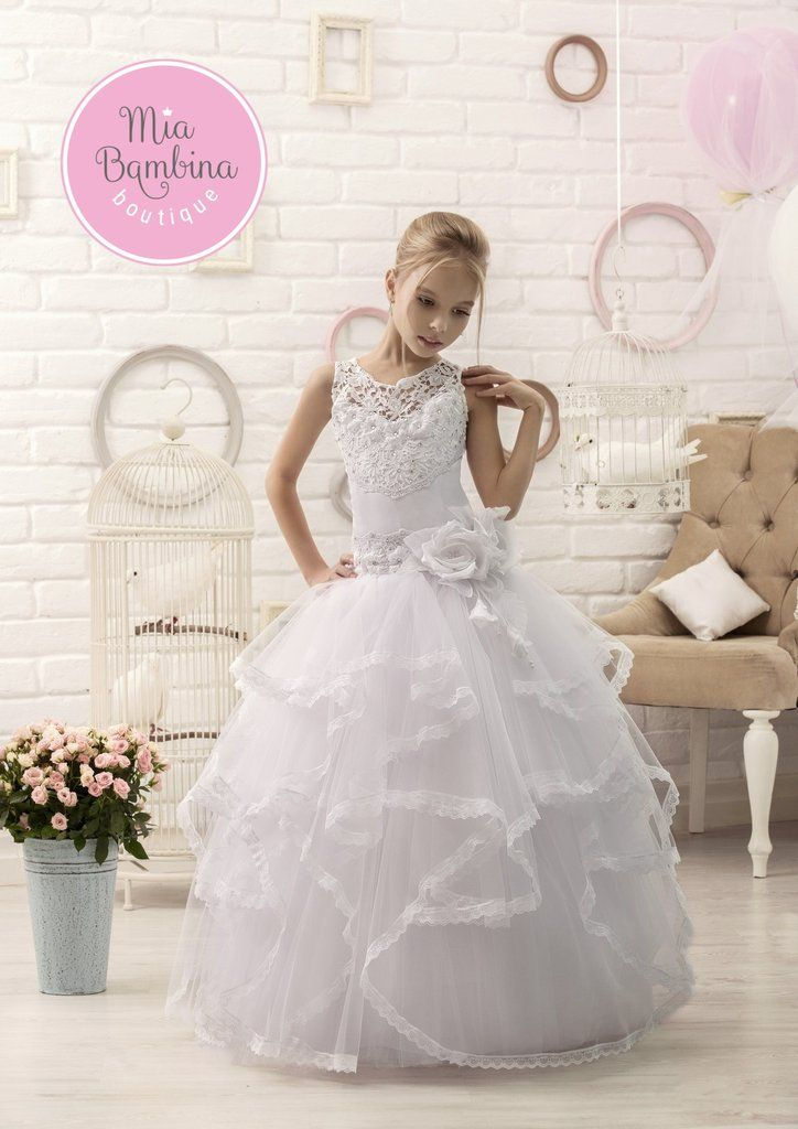 Buy Anastacia Ball Gown - Lace and Ruffles Flower Girl Dress for Weddings