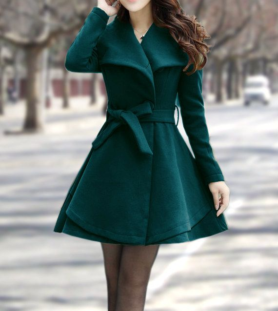 Women's Winter Coats Blue Jackets Wool Capes by dresstore2000 I waaant that coat