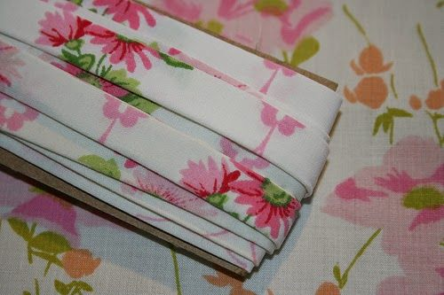The Vintage Sheet Blog---Bias Tape Made From Vintage Sheets
