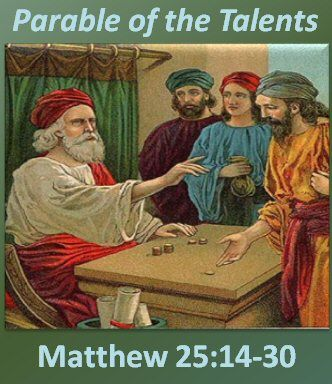 Matt 25:14 . . a man about to travel abroad who summoned his slaves and entrusted his belongings to them. 15He gave five talents to one, two to another, and one to still another, to each according to his own ability, and he went abroad. 16. . the one who received the five talents went and did business with them and gained five more. 17Likewise, the one who received the two gained two more. 18But the slave who received just one went off and dug in the ground and hid his master's money